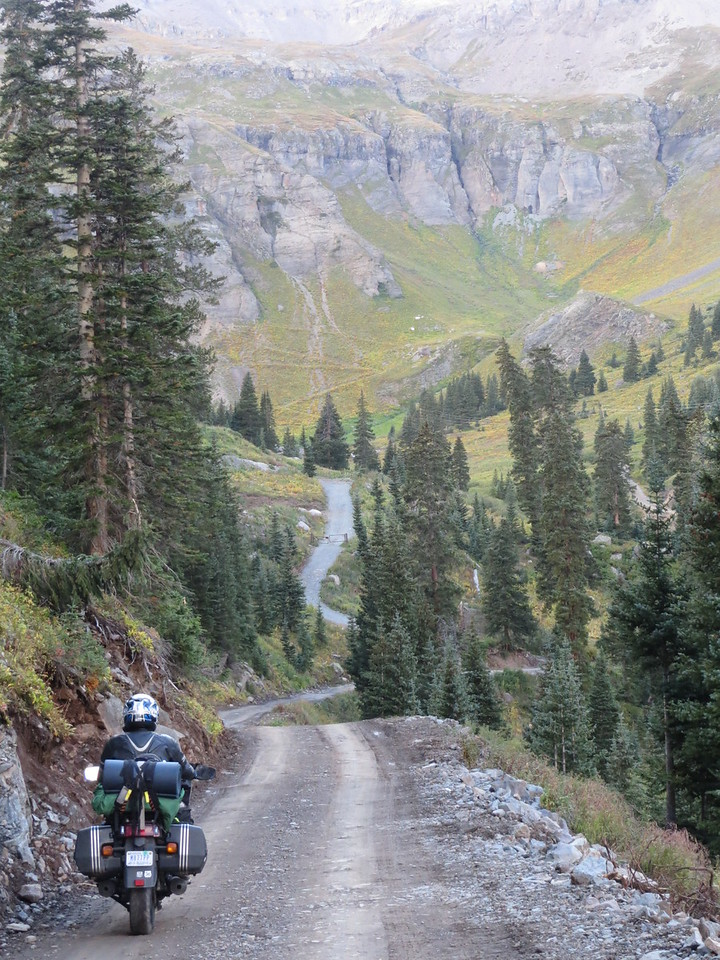 Day 4 (357 miles): Outside of Ouray on the way to Yankee Boy and Governor's Basins