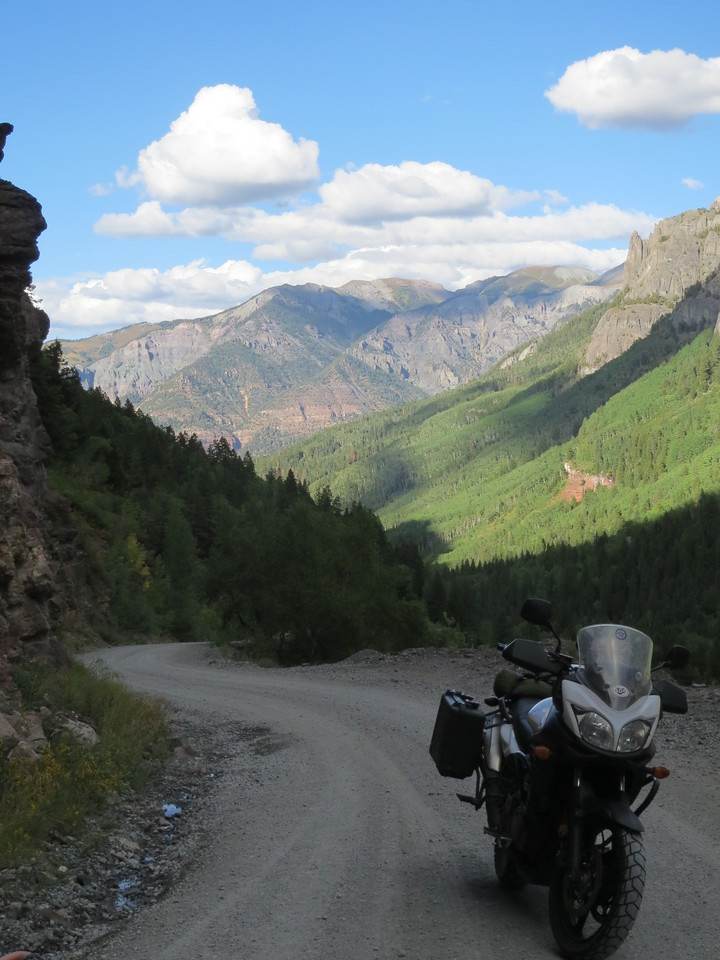 Day 4 (357 miles):  Outside of Ouray on the way to Yankee Boy and Governor's Basins.