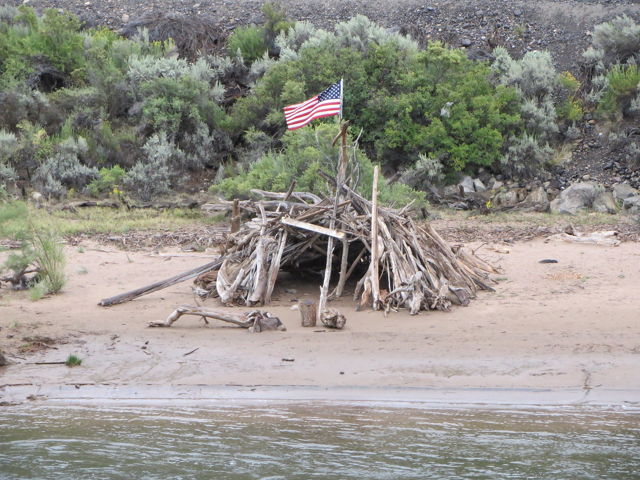 Day 3 (363 miles):  Colorado River Headwaters Scenic Byway.   Totally oddball, random driftwood fort.
