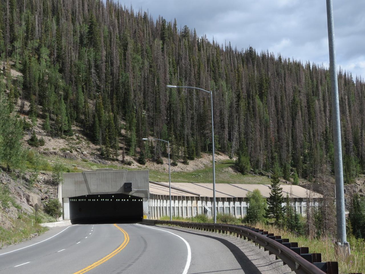Day 4 (357 miles):  Rockslide shelter on US 160