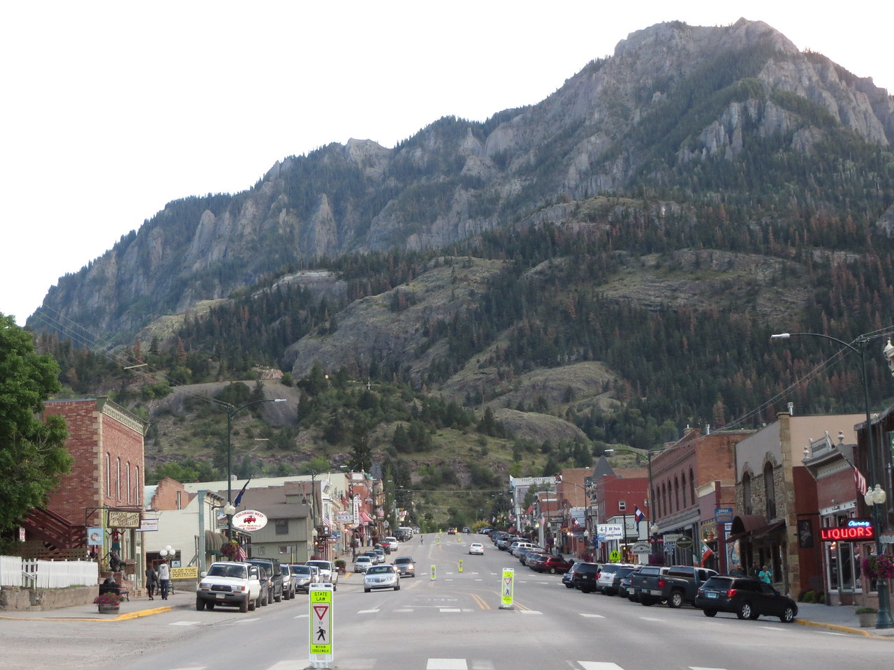 Day 4 (357 miles): Downtown Ouray.