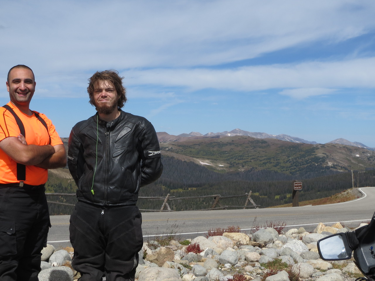 Day 3 (363 miles): Amazingly, this is the only shot of both of us from this entire trip.