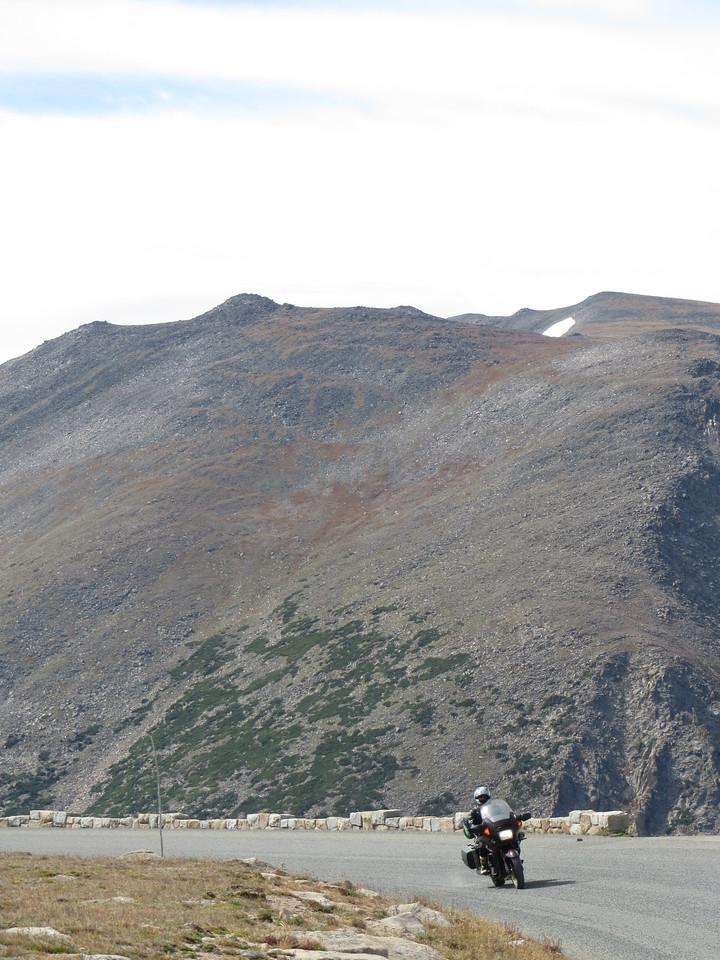 Day 3 (363 miles): Matt on Trail Ridge Rd, RMNP
