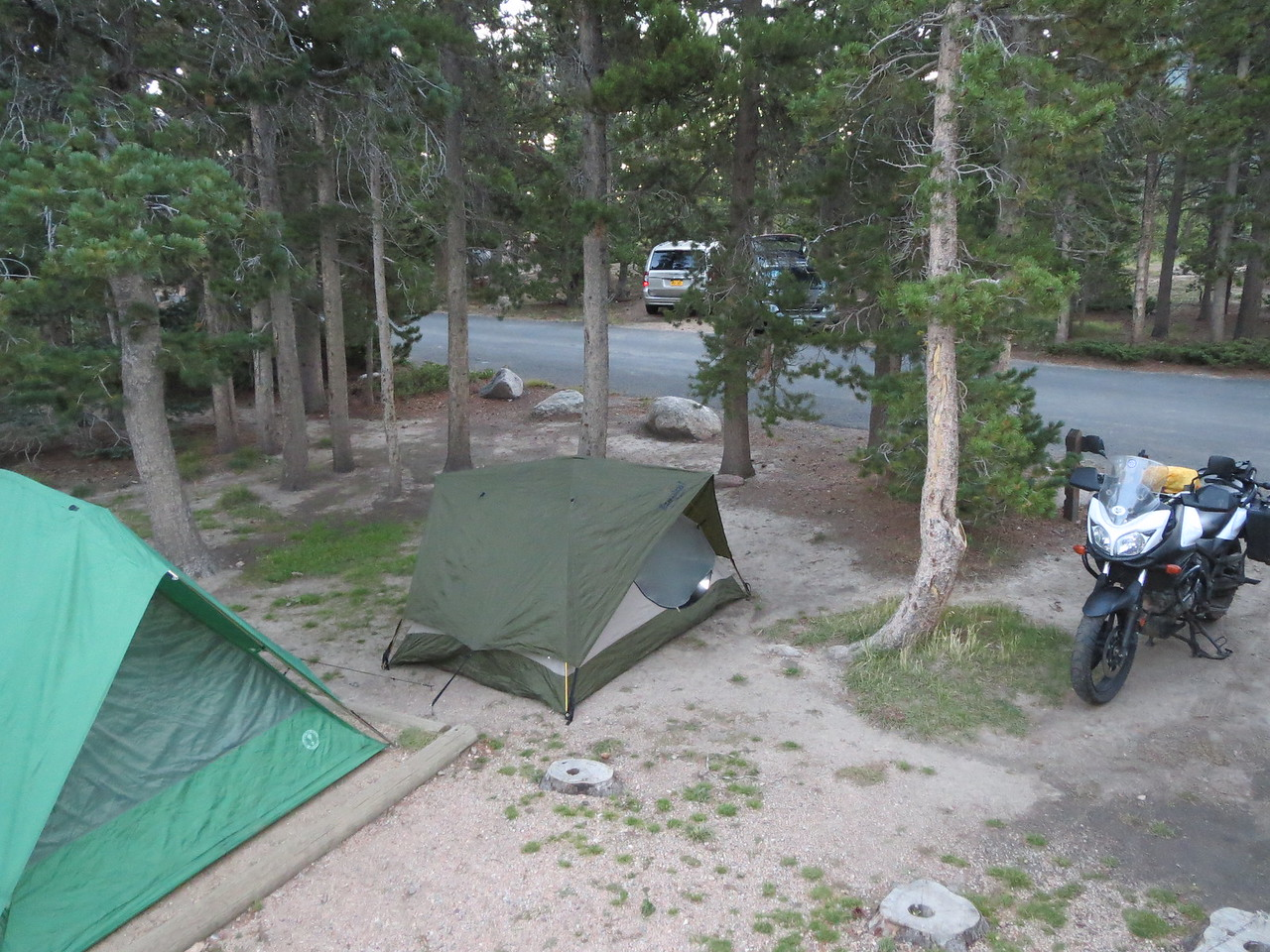 Day 3 (363 miles): We spent the night (of day 2) at the Long's Peak Campground in the RMNP.