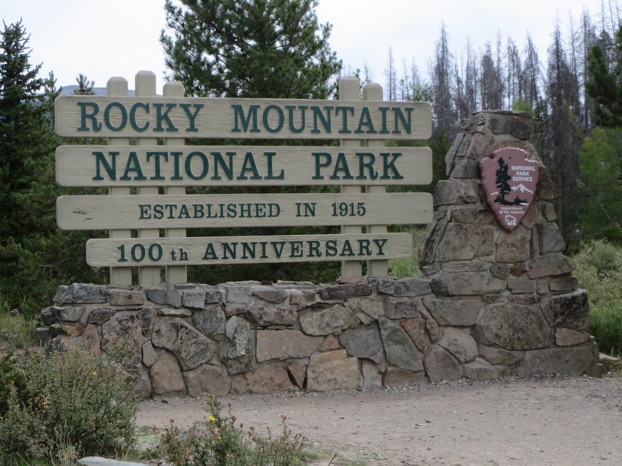 Day 3 (363 miles): Southern entrance, Trail Ridge Rd, RMNP