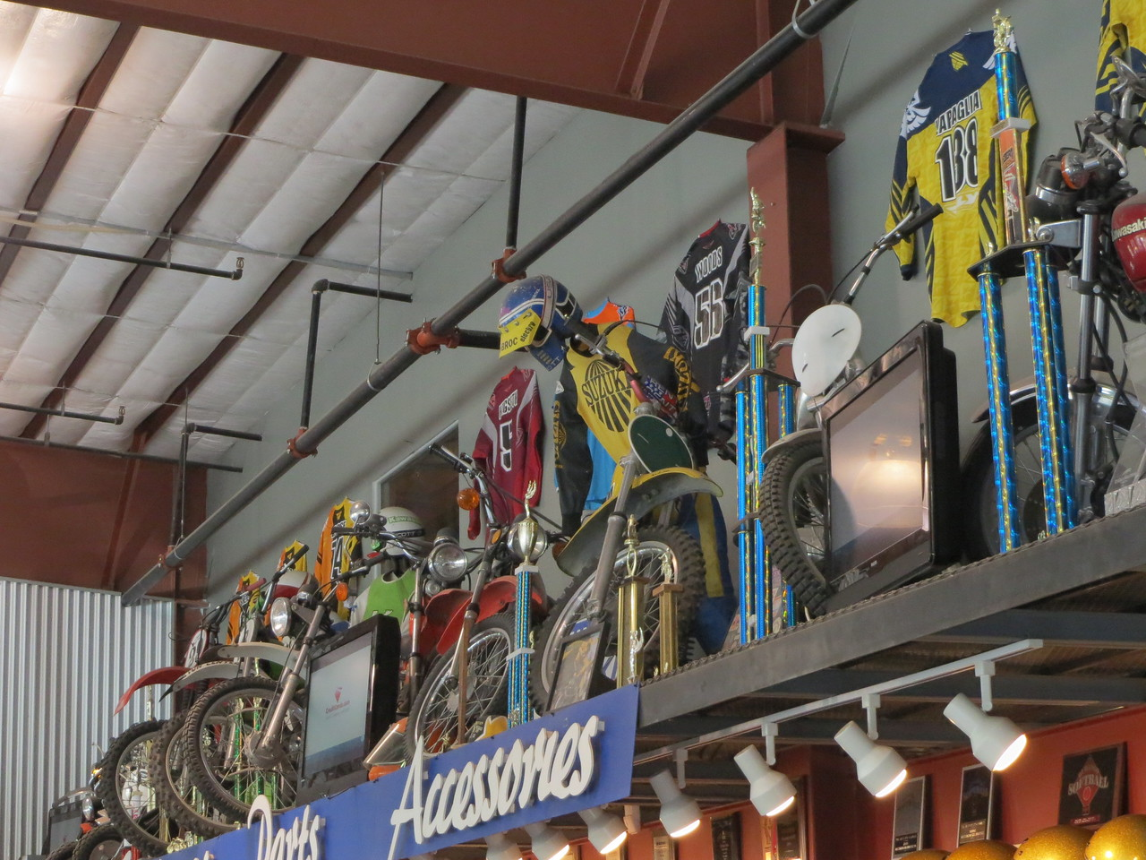 Day 4 (357 miles): Some old bikes inside 'The Fun Center'