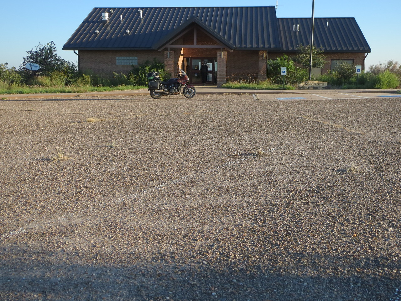 Day 6 (970 miles): Waking up and leaving the abandoned ranger station at Bonny Lake State Park