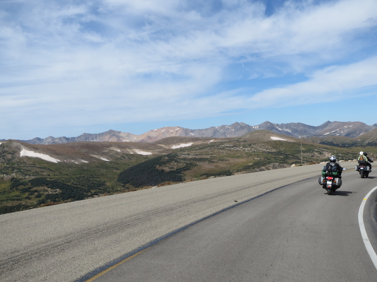 Day 3 (363 miles): Trail Ridge Rd, RMNP.  Chasing our French pal, which wasn't hard since he was going like 8 mph.