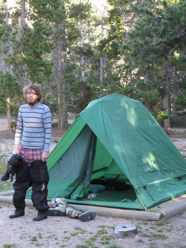 Day 3 (363 miles): Matt awakens from his slumber.  Other campers offer him a Jack Links Jerky, believing him to be Sasquatch.