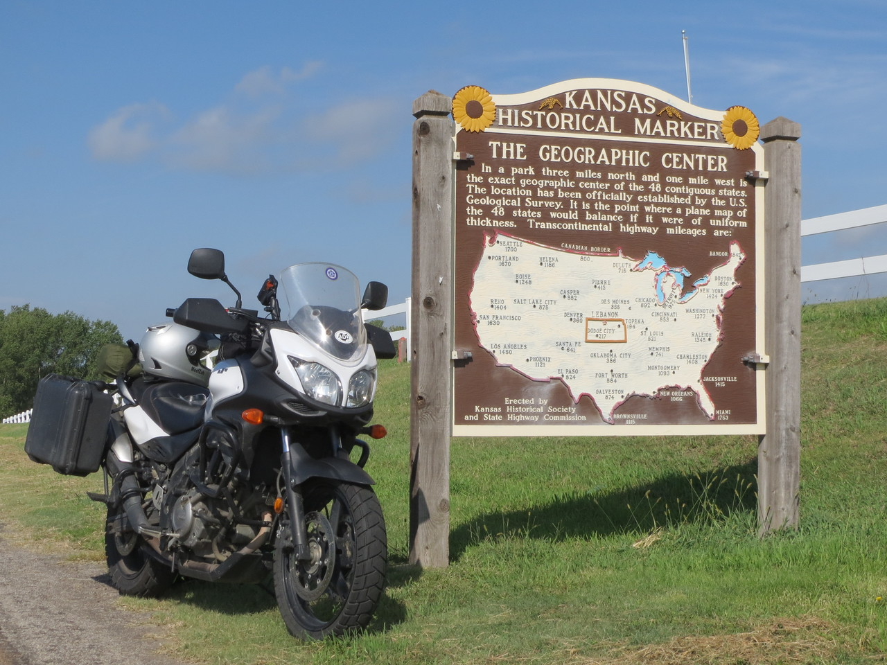 Day 2 (796 miles): It's the center of the US, if you use a crazy mathematical formula to determine that.
