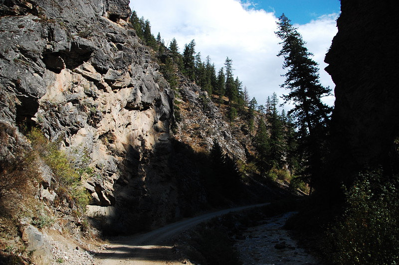 Along the Magruder...<br /> <br /> The road either runs the ridge, or runs the creek bottom.  Both areas are beautiful.