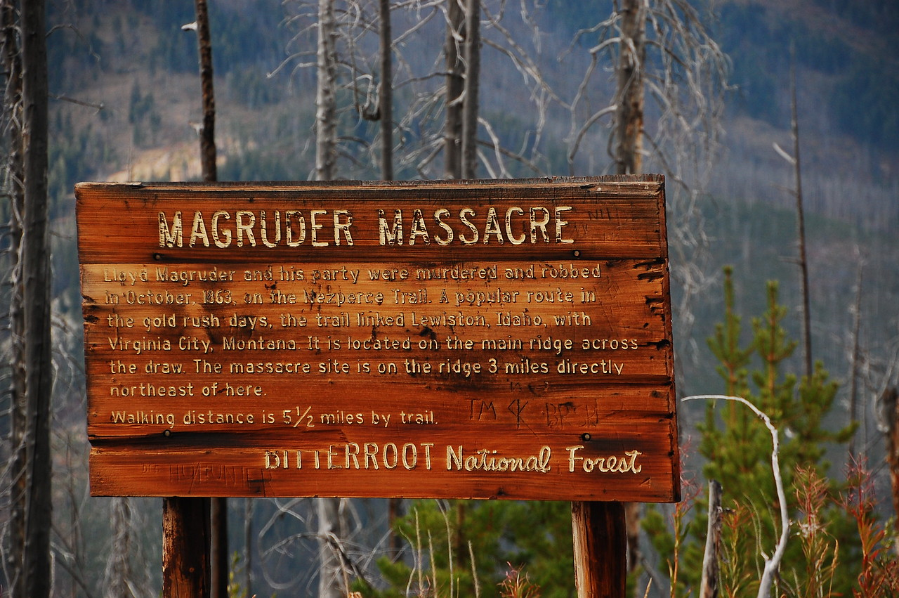 Sign kinda says it all.  This is why I carry a pistol (and shotgun while camping!).  <br /> <br /> If any murderin' gets done, I'll be doing it!