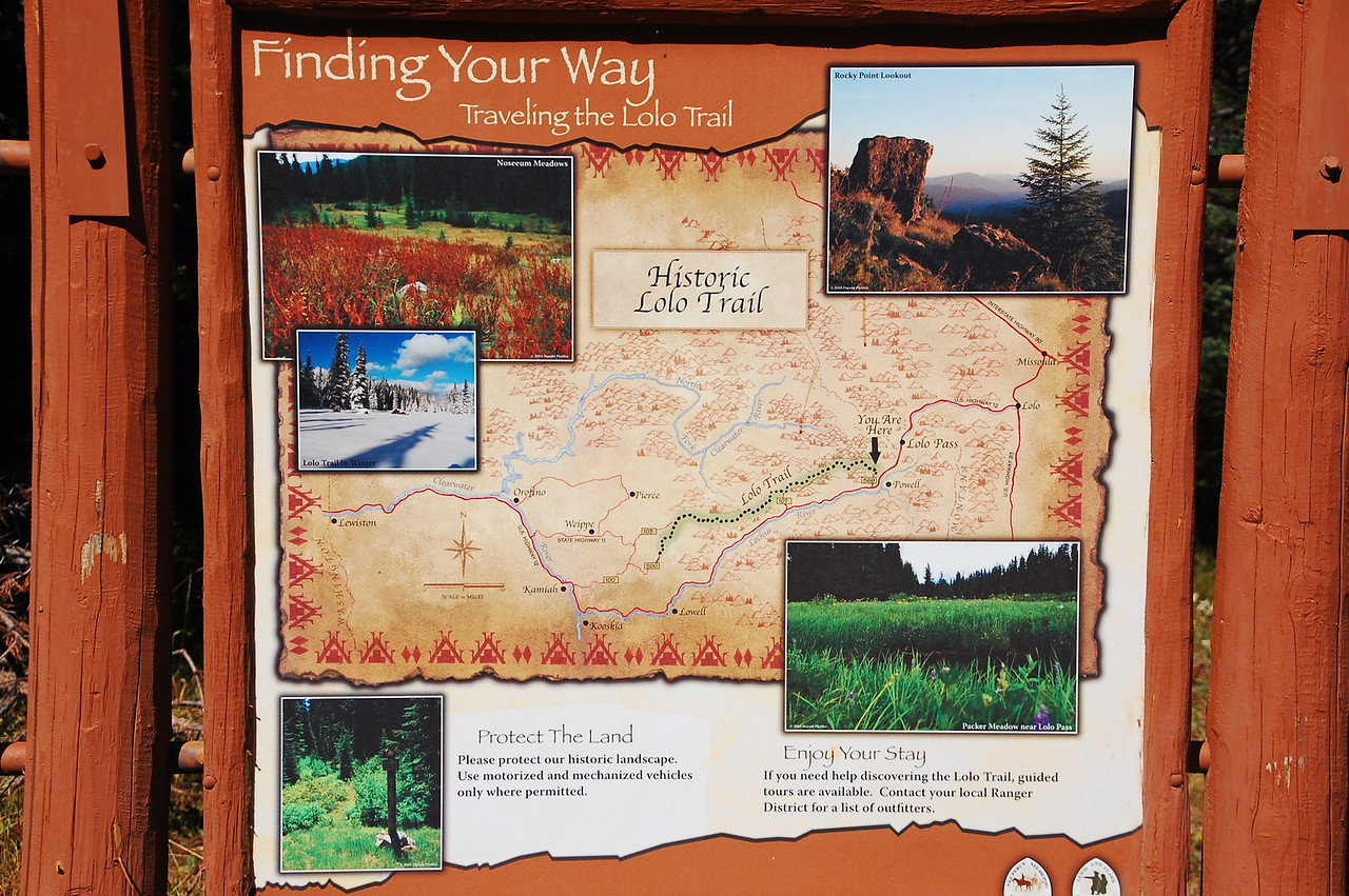 """The Lolo Trail, which is also signed as NF Rt 500, and the Lolo Motorway, was the route that Lewis and Clark took over the Bitterroot Mountains (and back again) in 1805 and 1806.<br /> <br /> <a href=""""https://www.nps.gov/nr/travel/lewisandclark/lol.htm"""">https://www.nps.gov/nr/travel/lewisandclark/lol.htm</a><br /> <br /> Little has changed - I guess the trail is now a one lane road - but the history up here is tangible.  You don't need a placard to tell you that in the depths of winter, these men struggled and scrapped and dealt with hardships unimaginable to us, for the sake of nothing more than exploring their world and broadening the reach of the still-young United States of America.<br /> <br /> We camped in a unmarked spot about 1/3 of the way into the 119 mile trail.  We built our campfire in the remains of a fire pit used by probably hundreds of travelers over hundreds of years.  We slept - albeit in the back of a truck, and in sleeping bags - in the same spot that Lewis and Clark might have, 210 years ago.   The feeling you get from that is indescribable."""