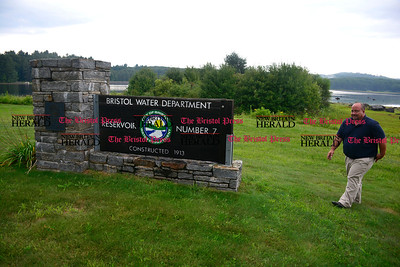 9/1/2016 Mike Orazzi   Staff  Bristol Water Department Superintendent Robert Longo at Reservoir Number 7 off Marsh Road.