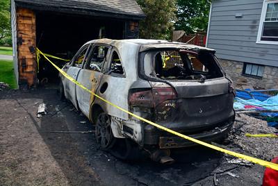 9/3/2016 Mike Orazzi | Staff Bristol Police are investigating a suspicious car fire overnight in the area of Barnes and Tulip streets.