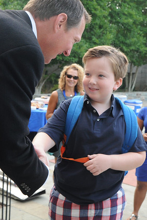 First Day Handshakes & Hugs in Lower School