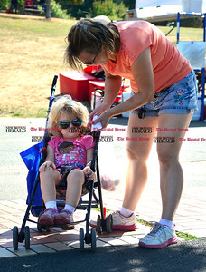 9/16/2016 Mike Orazzi   Staff Lilly Krzynowek and her mom Heidi while at Main Street USA, in New Britain's Walnut Hill Park Saturday.