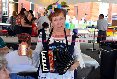 9/16/2016 Mike Orazzi   Staff Anita Siarkowski during Immanuel Lutheran's one day German Festival Saturday in Bristol.