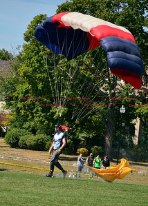 9/16/2016 Mike Orazzi   Staff Sky diver Zach Vasnick makes his entrance during Main Street USA, in New Britain's Walnut Hill Park Saturday.