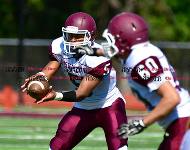 9/17/2016 Mike Orazzi   Staff Bristol Central's Isaiah Miller (5) in South Windsor on Saturday.