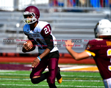 9/17/2016 Mike Orazzi   Staff Bristol Central's Ed Irizarry (21) at South Windsor on Saturday.