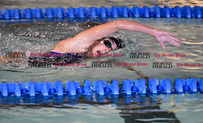 092716  Wesley Bunnell | Staff  Bristol Eastern Swimming vs Glastonbury on Tuesday afternoon at Malone Aquatic Center. Bristol Eastern Swimmer Hope Johnsky.