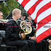 092916  Wesley Bunnell | Staff<br /> <br /> MU3 Christopher Hess playing the french horn for Navy Band Northeast as they perform for a crowd in Berlin at Veteran's Memorial Park on Wednesday evening.