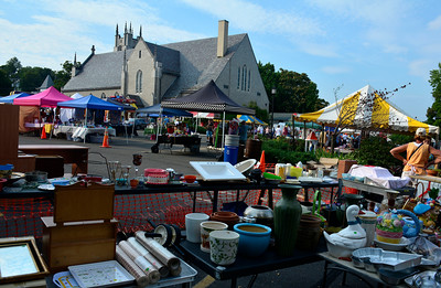 9/10/2016 Mike Orazzi | Staff Items for sale in the tag sale during the St. Stanislaus Church's annual Dozynki celebration on West Street in Bristol Saturday.