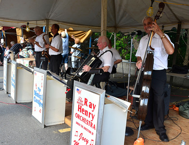 9/10/2016 Mike Orazzi | Staff The Ray Henry Orchestra under the direction of  Joe Milardo and his Musical Cavaliers during the St. Stanislaus Church's annual Dozynki celebration on West Street in Bristol Saturday.