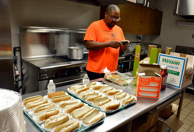 9/10/2016 Mike Orazzi | Staff Chris Williams in the kitchen during the Boys and Girls Club of New Britain's 125th anniversary picnic while trying establish an alumni association to help support the organization on Saturday.