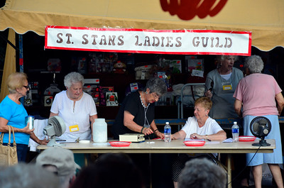 9/10/2016 Mike Orazzi | Staff Members of the St. Stanislaus Ladies Guild during the St. Stanislaus Church's annual Dozynki celebration on West Street in Bristol Saturday.