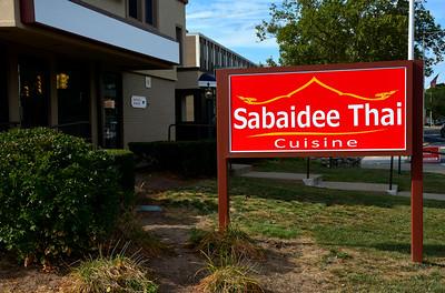 9/14/2016 Mike Orazzi | Staff The Sabaidee Thai Restaurant in downtown Bristol.