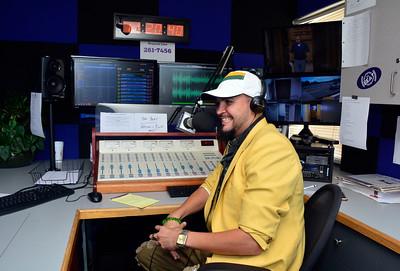 9/14/2016 Mike Orazzi | Staff The Beat radio station's Stevey Steve in Bristol Wednesday morning.