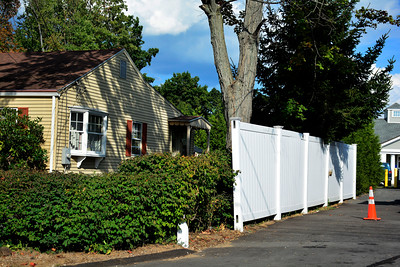 9/14/2016 Mike Orazzi | Staff A fence near 2 Grant Ave. in Plainville.