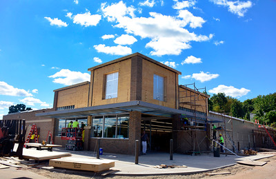 9/15/2016 Mike Orazzi | Staff The Bristol Aldi is scheduled to re-open on Sept. 29 and is undergoing renovations and an expansion at the corner of Pine and Middle Streets.