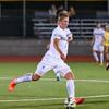 092116  Wesley Bunnell | Staff<br /> <br /> CCSU Men's Soccer hosted Manhattan College on Wednesday evening. Freshman Defenseman Robin Olofsson #6.