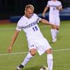 092116  Wesley Bunnell | Staff<br /> <br /> CCSU Men's Soccer hosted Manhattan College on Wednesday evening. Sophomore Midfielder Quentin Lux #19.