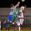 092116  Wesley Bunnell | Staff<br /> <br /> CCSU Men's Soccer hosted Manhattan College on Wednesday evening. Junior Goalkeeper Carson D'Ambrosio #25.