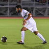 092116  Wesley Bunnell | Staff<br /> <br /> CCSU Men's Soccer hosted Manhattan College on Wednesday evening. Junior Midfielder James Thompkins #29.
