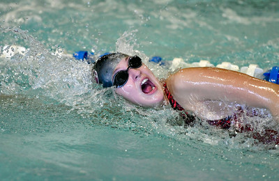 9/23/2016 Mike Orazzi | Staff Bristol Central's Alexa Bugryn during a swim meet with Farmington Friday.