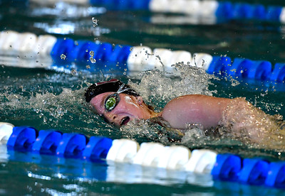 9/23/2016 Mike Orazzi | Staff Bristol Central's Hannah Marcil during a swim meet with Farmington Friday.