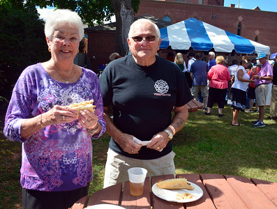 9/24/2016 Mike Orazzi | Staff Joanne and Charles Kingsbury during the Oktoberfest at St. Peter Church in New Britain Saturday.