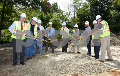 09/12/17  Wesley Bunnell   Staff  A ceremonial groundbreaking was held behind the Plymouth Fire Company on Tuesday afternoon for the new seven thousand square foot addition. Mayor David Merchant, L, Captain Tom Zagurski, Firefighter Rick Telke, Justin Giampaolo of Burlington Construction, Firefighter and Chairman of the Building Committee for the Additions and Renovations to Plymouth Fire Company Victor Mitchell, Chairman of the Capital Improvements Committee Matt Tellier, Dustin Lombardi Silver Petrucelli & Associates, Fire Chief Mark Sekorski & Mike Audette