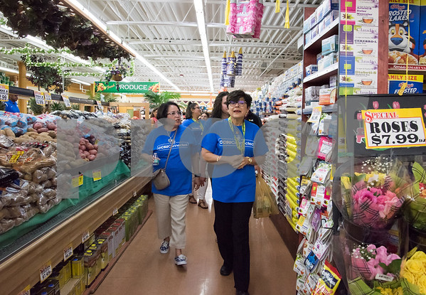 09/13/17 Wesley Bunnell   Staff CCSU students and faculty including President Dr. Zulma Toro toured downtown New Britain Wednesday afternoon on a listening tour with local business on their views of CCSU's interactions with the city. CCSU President Dr. Zulma Toro takes a tour through C-Town Supermarket.