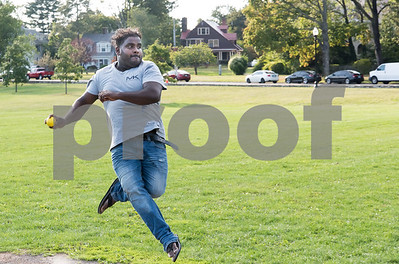 09/15/17  Wesley Bunnell | Staff  Bowler Srinath Thanrasa practices on Friday evening at Walnut Hill Park with friends in preparation for a day of matches Saturday Sep 16.