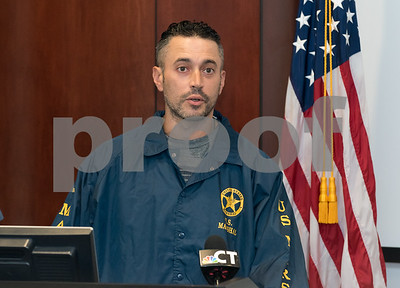 09/18/17 Wesley Bunnell | Staff  A briefing was held Monday afternoon at the New Britain Police Department regarding the apprehension of Jermaine Scott. Scott has been a fugitive since March in a triple shooting of a woman and two children. U.S. Marshall Matt Duffy.