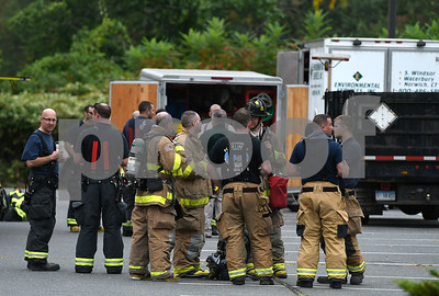 9/20/2017 Mike Orazzi | Staff The scene of a hazardous chemical leak in the parking lot the Price Chopper grocery store in Southington Wednesday morning. Multiple area fire departments responded to Southington for mutual aid because of a house fire that occurred around the same time.