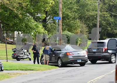 09/21/17 Wesley Bunnell   Staff  Police block the intersection of Fisk & Lloyd St in Newington on Thursday morning due to a police standoff on nearby Gilbert Rd.