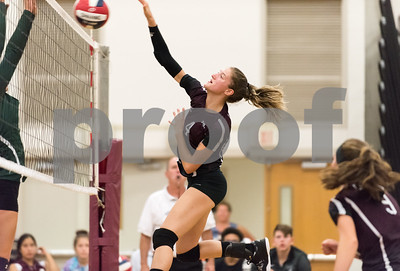 09/25/17  Wesley Bunnell | Staff  Bristol Central girls volleyball vs Maloney on Monday evening at Bristol Central High School.  Andreia DeAngelo (4).