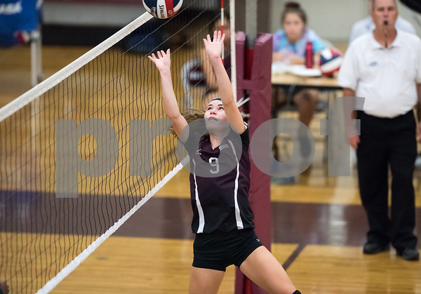 09/25/17 Wesley Bunnell | Staff Bristol Central girls volleyball vs Maloney on Monday evening at Bristol Central High School. Ashleigh Clark (9).